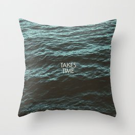 Jim Guthrie Takes Time Water Design Throw Pillow
