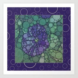 Percolated Purple Potato Flower Reboot  Art Print