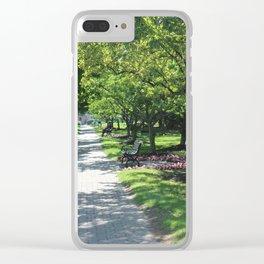 Brick Walk Way Clear iPhone Case