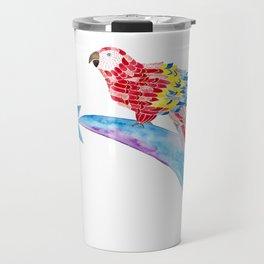 Scarlet macaw making a wish Travel Mug