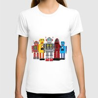 robots T-shirts featuring robots by notbook