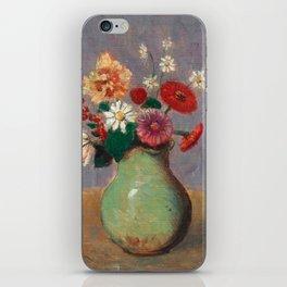 "Odilon Redon ""Flowers in a Green Vase (Fleurs Dans Un Vase Vert)"" iPhone Skin"