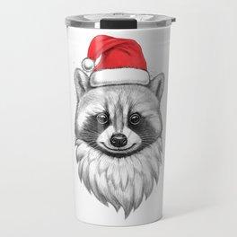 Santa Raccoon Travel Mug