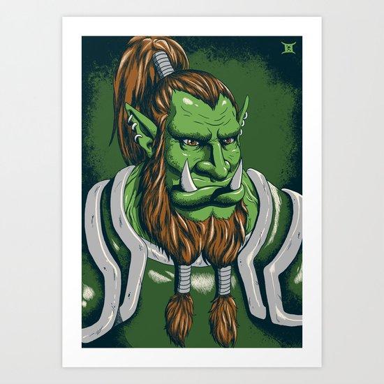 Orc Warrior Art Print