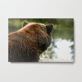 Going Fishing - Brown Bear  Metal Print
