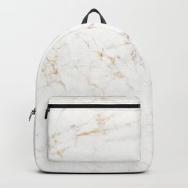 White faux marble gold accents Backpack