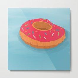 Summer Donut Metal Print