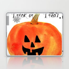 Trick or Treat Jack-O-Lantern, Halloween Pumpkin Laptop & iPad Skin