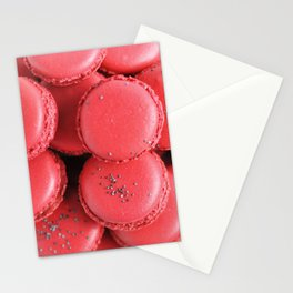 Pink macarons photograph Stationery Cards
