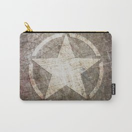 Army Star on Distressed Riveted Metal Door Carry-All Pouch