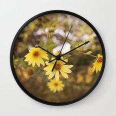Five Flowers Wall Clock