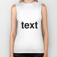 text Biker Tanks featuring text by linguistic94