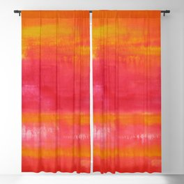 'Summer Day'  Orange Red Yellow Abstract Art Blackout Curtain