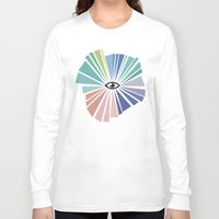 all seeing eye Long Sleeve T-shirts featuring All seeing eye  by Nobra
