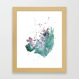 Shining Bright - Abstract Mixed Media Painting Framed Art Print