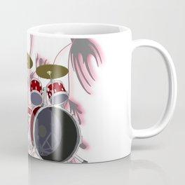 Drum Kit with Tribal Graphics Coffee Mug