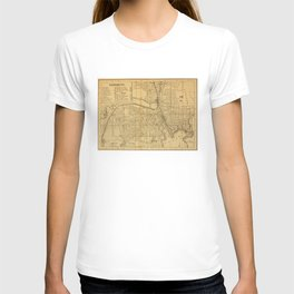 Vintage Map of Providence RI (1880) T-shirt