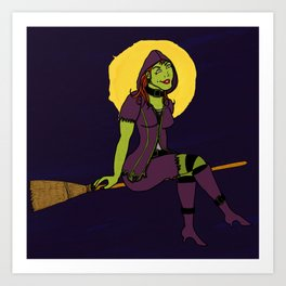 Pointy in the Moonlight Art Print