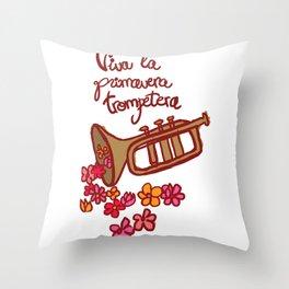 primavera trompetera Throw Pillow
