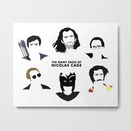 Many Faces of Nicolas Cage Metal Print