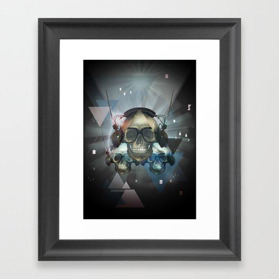 Pyramid skulls Framed Art Print