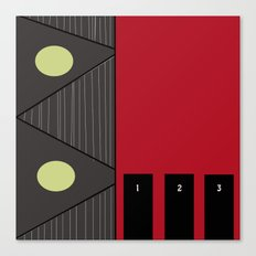 Living By Numbers Canvas Print