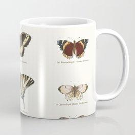 Vintage Butterfly Chart Kaffeebecher