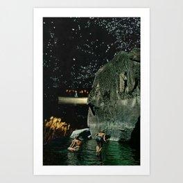 Moon Lagoon Art Print