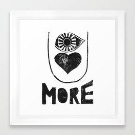 EYE LOVE U MORE - by Genu WORDISIAC™ TYPOGY™ Framed Art Print