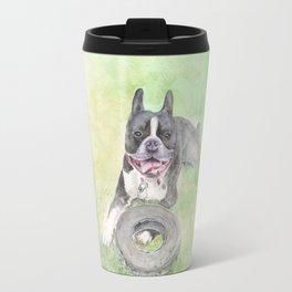 Elvis and His Tire Travel Mug