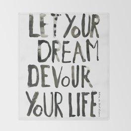 Handwritten inspirational quote Throw Blanket