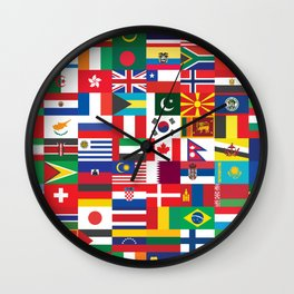 All Flags Wall Clock
