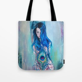 Peafowl Flow Tote Bag