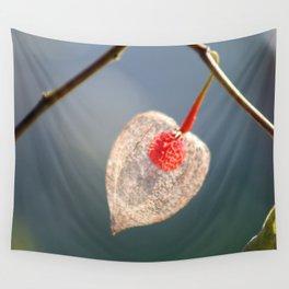 Japanese Lantern Flower Fruit Close up Wall Tapestry