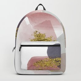 Nordic Abstract 2 - pink, blue, gray and gold Backpack