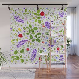 Leaves and flowers (14) Wall Mural