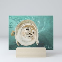 Sea Lion Swimming Mini Art Print