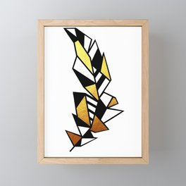 Gold Feather Design Framed Mini Art Print