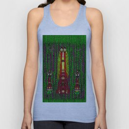 Lady Frida Kahlo arrived to the fantasy forest Unisex Tank Top
