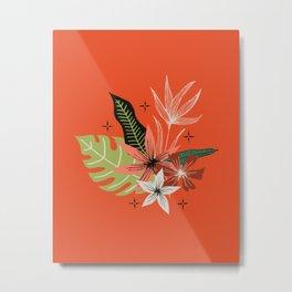 tropical bouquet on orange Metal Print