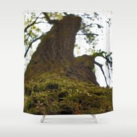 moss Shower Curtains featuring Moss by Kallian