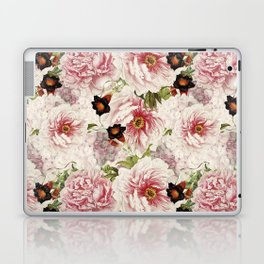 Small Vintage Peony and Ipomea Pattern - Smelling Dreams Laptop & iPad Skin