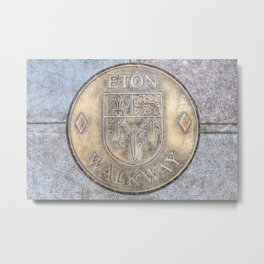 Eton College Walkway Metal Print