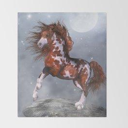 Native Horse Throw Blanket