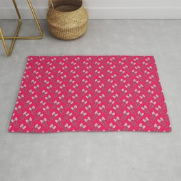 Bow Paperclip Pattern on Pink - Planner Addicts! Rug