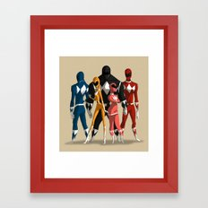 Power Rangers Framed Art Print