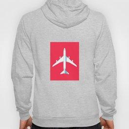 747-400 Jumbo Jet Airliner Aircraft - Crimson Hoody