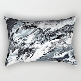 Marble in Black and White Rectangular Pillow