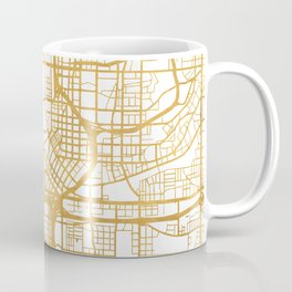 ATLANTA GEORGIA CITY STREET MAP ART Coffee Mug