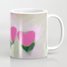 Hearts from a Rose Pink Coffee Mug